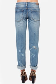 Blank NYC Galaxy Distressed Straight Leg Jeans at Lulus.com!