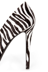 Jessica Simpson Jasmint4 Black & White Wild Zebra Platform Pumps at Lulus.com!