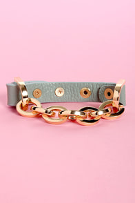 Brace Yourself Mint Green Leather Bracelet at Lulus.com!