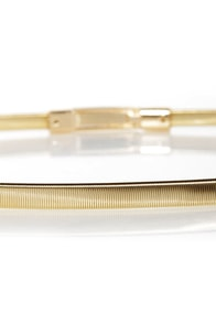 Stretch 22 Gold Stretch Belt at Lulus.com!