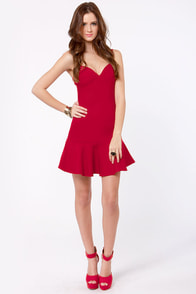 Rose in Your Teeth Red Dress at Lulus.com!