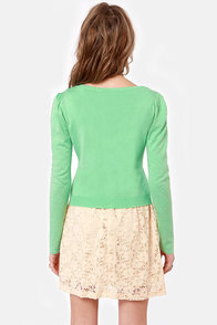 Gild You Up Studded Mint Green Cardigan Sweater at Lulus.com!