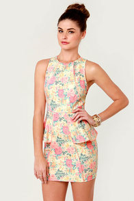Flower-ly Greats Floral Print Dress