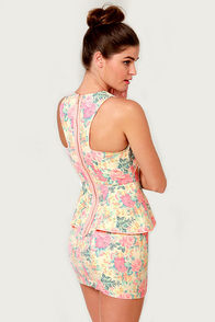 Flower-ly Greats Floral Print Dress at Lulus.com!