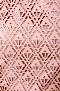 Daily Filigree Laser-Cut Peach Top