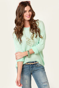 Beachcomber Oversized Mint Sweater at Lulus.com!