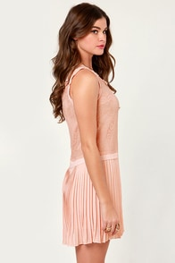 Petit Francais Blush Pink Dress at Lulus.com!