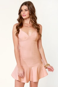 Rose in Your Teeth Blush Pink Dress at Lulus.com!
