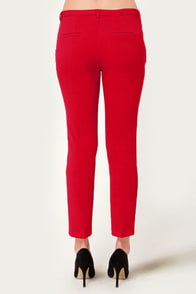 Crop of Kisses Red Cropped Pants at Lulus.com!
