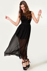 Ladakh Laced Lady Black Lace Dress at Lulus.com!