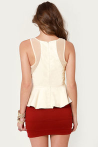 Daily Filigree Laser-Cut Ivory Top at Lulus.com!