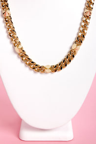 Speaking of Spikes Gold Chain Necklace at Lulus.com!