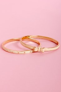 Peaches and Dreams Ivory and Peach Bangle Set at Lulus.com!