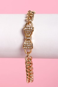 Bow My Goodness Bow Bracelet at Lulus.com!