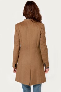 Peekaboo Chic Mid-Length Brown Coat at Lulus.com!