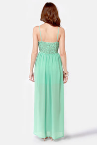 Let's See-quin Mint Maxi Dress at Lulus.com!