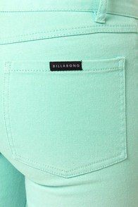 Billabong Peddler Aqua Blue Jeggings at Lulus.com!