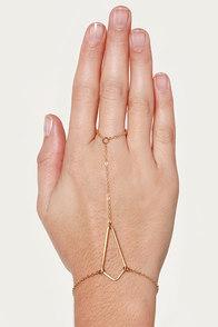 Jazz Hands Gold Harness Bracelet