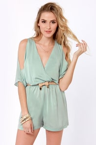 Heavens to Besty Sage Romper at Lulus.com!