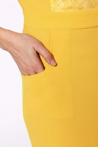 Swell Done Yellow Backless Dress at Lulus.com!