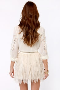 Swan Hit Wonder Cream Skirt at Lulus.com!