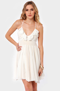 Luna Eclipse Backless Ivory Dress at Lulus.com!
