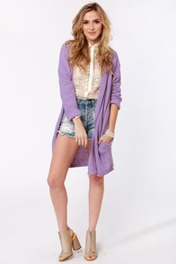 Knits Fine By Me Oversized Lavender Sweater at Lulus.com!