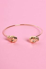 Skull-ture Club Gold Clutch Bracelet
