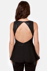Smokejumper Black Peplum Top at Lulus.com!