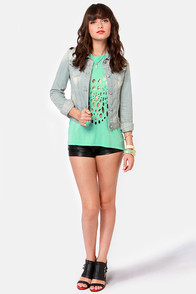 Turning Back Around Cutout Mint Green Muscle Tee at Lulus.com!