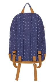 Volcom Supply and Demand Blue Polka Dot Backpack at Lulus.com!