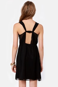 Gild-a Radness Beaded Black Dress at Lulus.com!