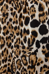 Cat's Cradle Off-the-Shoulder Animal Print Top at Lulus.com!