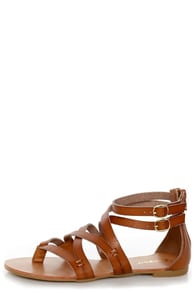 Bamboo Laguna 25 Chestnut Tan Strappy Gladiator Sandals at Lulus.com!