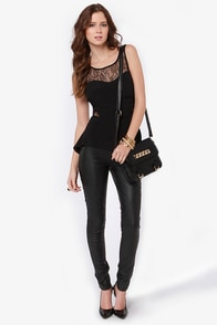 Open Re-Lace-onship Black Lace Top at Lulus.com!