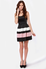 Band of Forces Black Dress at Lulus.com!