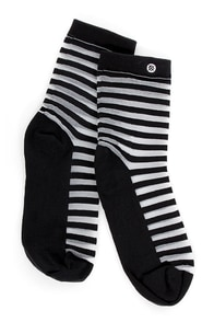 Stance Sherra Black and White Striped Socks at Lulus.com!