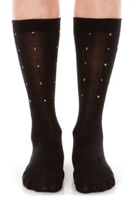 Stance Bam Bam Studded Black Socks at Lulus.com!