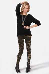 Thrill Sergeant Camo Print Jeggings