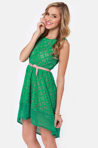 High on the Hilltop Green Lace Dress at Lulus.com!