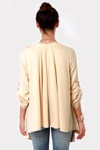 Patron of the Arts Cream Kimono Jacket at Lulus.com!