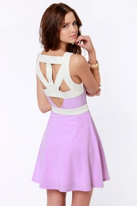Day Snipper Cutout Lavender Dress at Lulus.com!