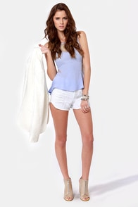 Open Re-Lace-onship Light Blue Lace Top at Lulus.com!