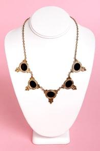 Bespoke-n Token Black and Gold Necklace at Lulus.com!