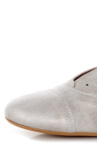 Sixtyseven Kristy Silver Vachetta Leather Lace-less Oxfords at Lulus.com!