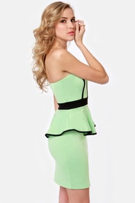 Sweet-ish Dish Strapless Mint Green Dress at Lulus.com!