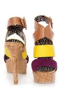Jessica Simpson Ericka Wisteria Combo Platform Sandals at Lulus.com!
