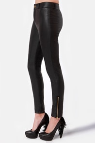 Leather Report Black Vegan Leather Pants at Lulus.com!
