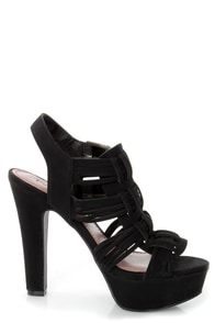 Pink & Pepper Lolla Black Strappy Platform Sandals at Lulus.com!