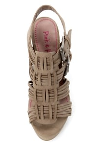 Pink & Pepper Lolla Taupe Strappy Platform Sandals at Lulus.com!